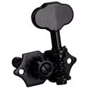 Schaller Machine Head ST6 Vintage 3 left/ 3 right Black. Gibson shaft