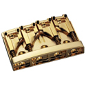 Schaller Bass bridge 3D-4 4-string Gold