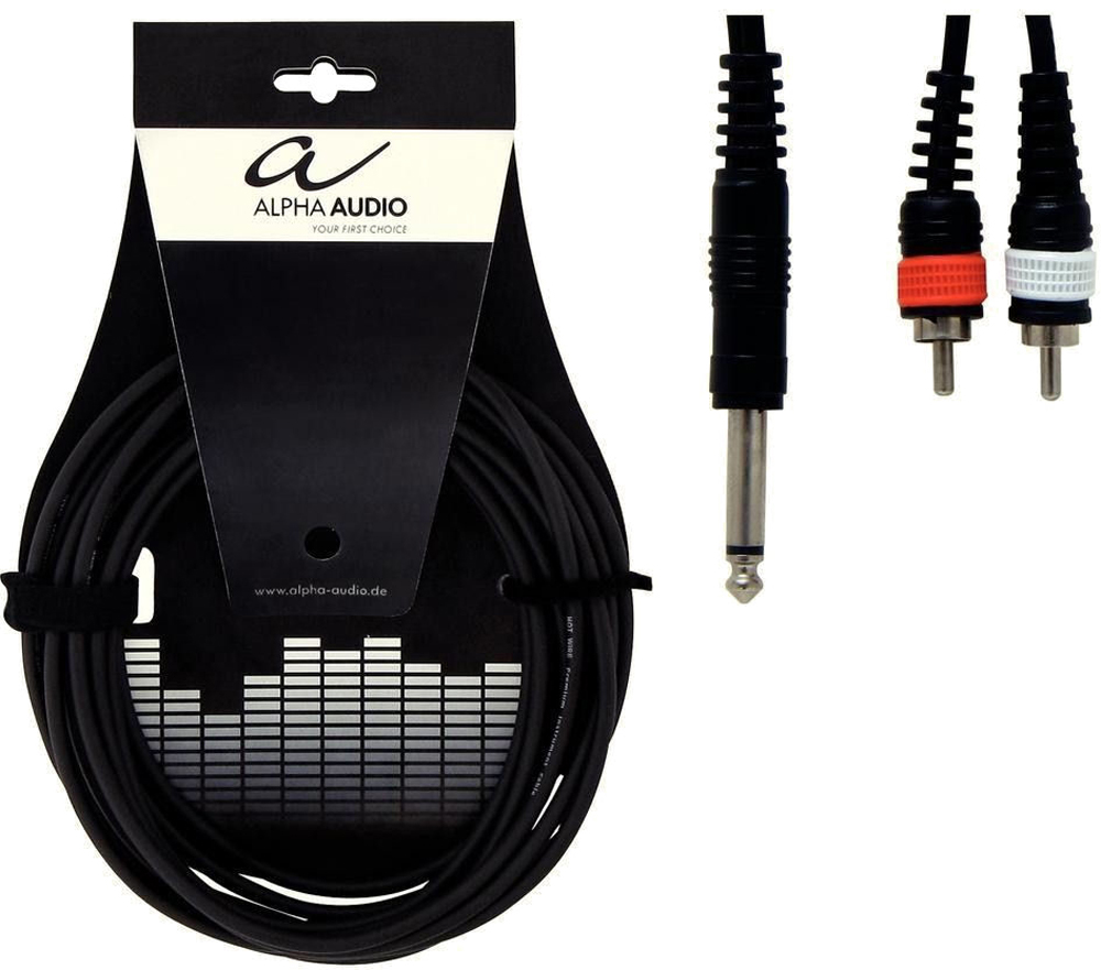 Alpha Audio Y cable MO-RCA-3m