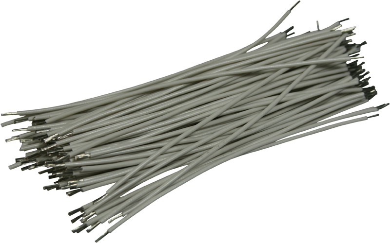 Pre Cut And Stripped Wire | Pre Cut Stripped Wire 0 25mm White 10cm 100pcs Pre Cut And