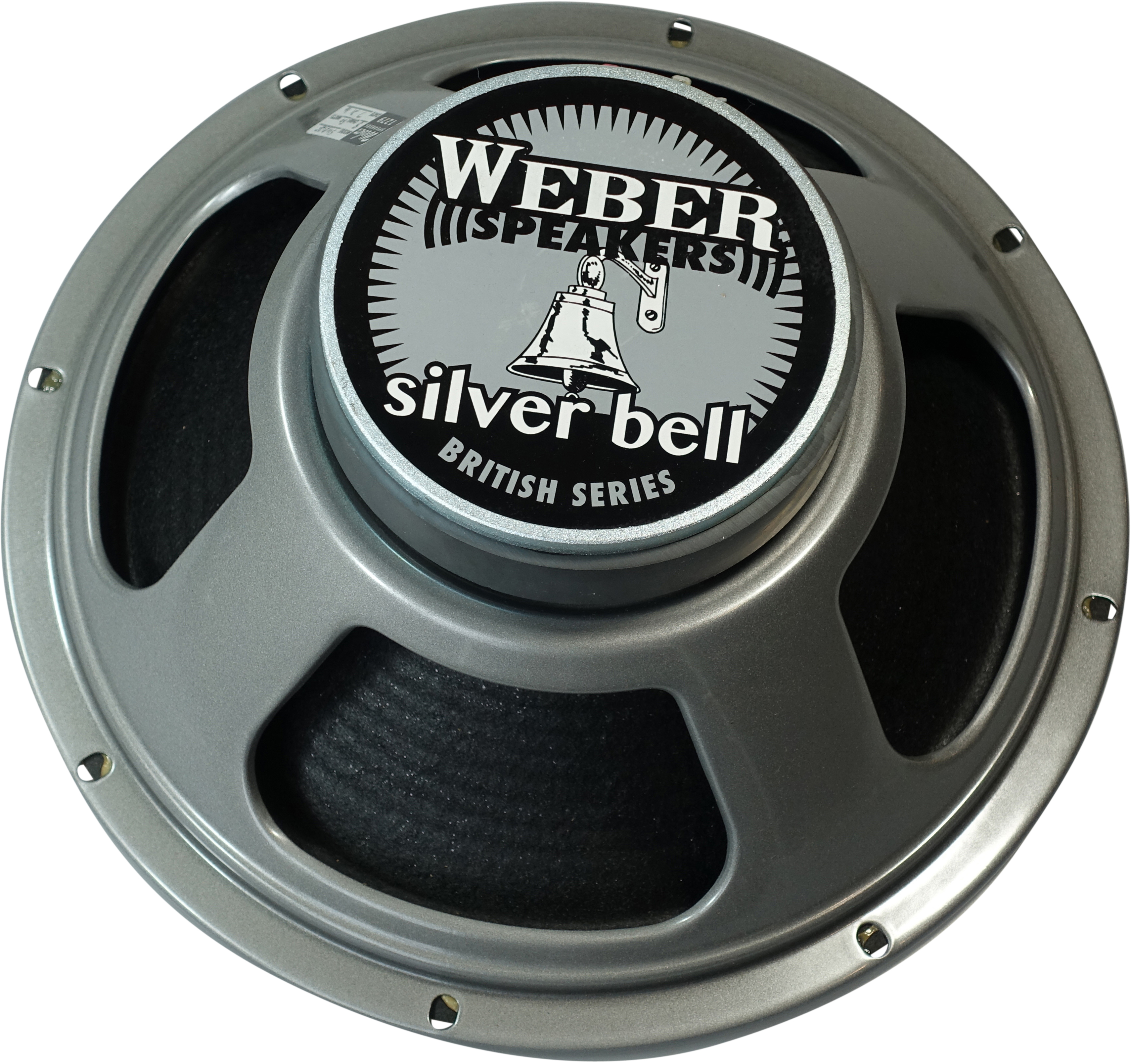 Weber British Ceramic Silver Bell-RIBBED-50-8 Ohm