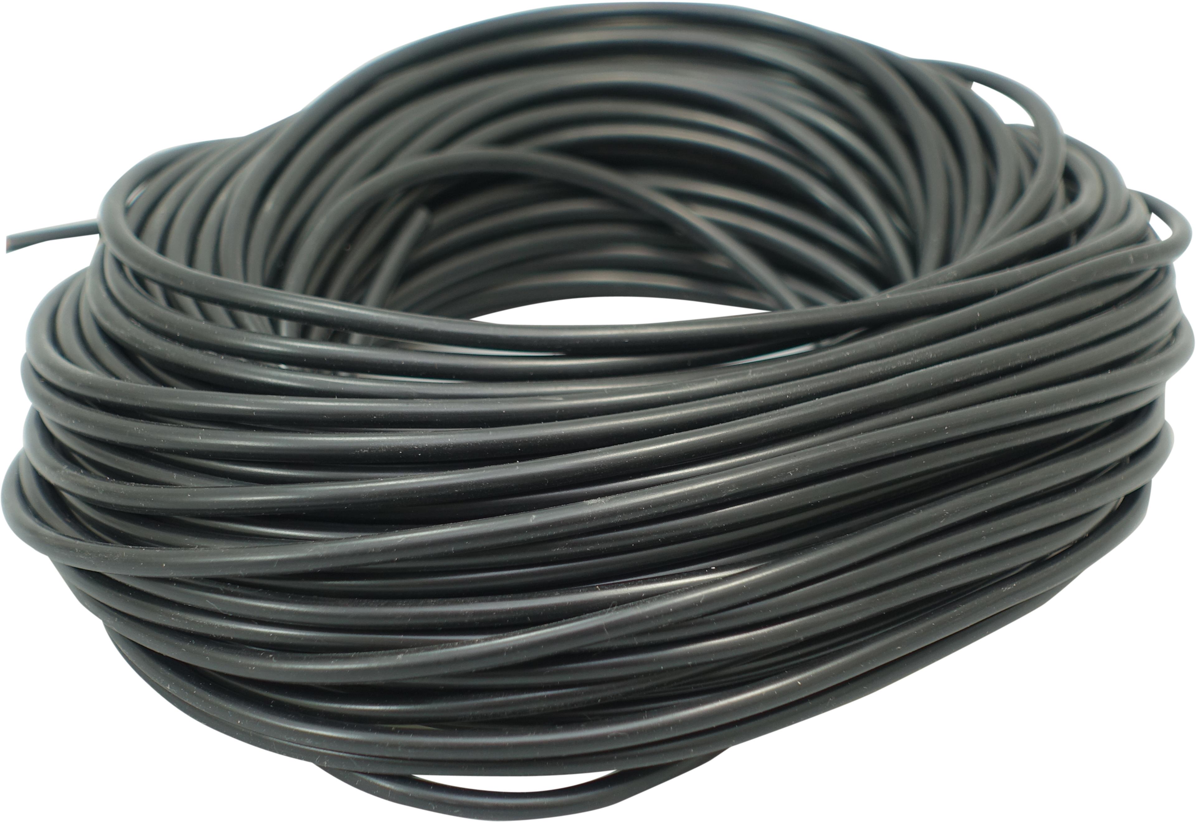 PVC Wire 0,75mm, black 25m