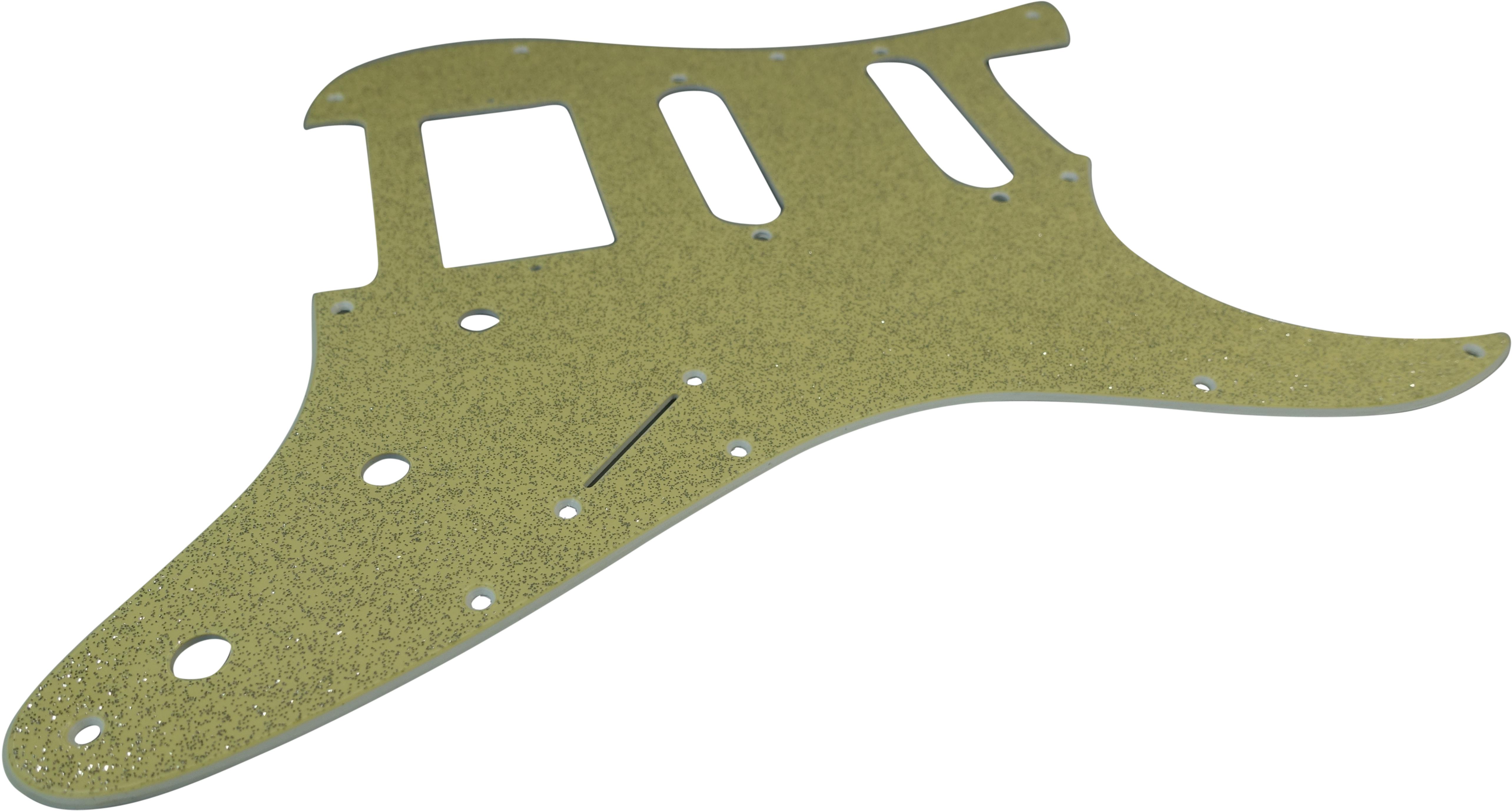 Toronzo Pickguard ST-HSS-3P-2PLY-Sparkle Gold