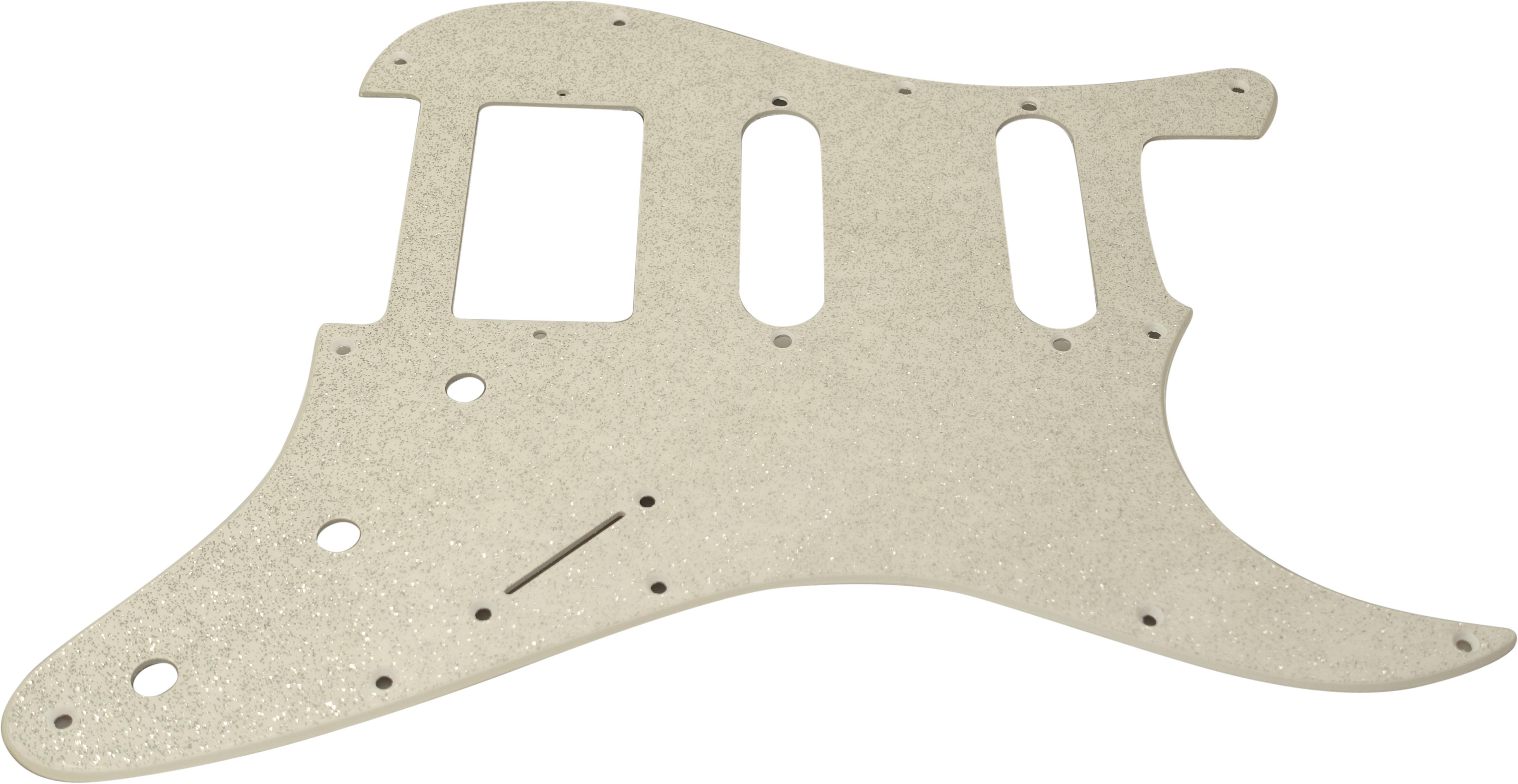 Toronzo Pickguard ST-HSS-3P-2PLY-Sparkle Silver
