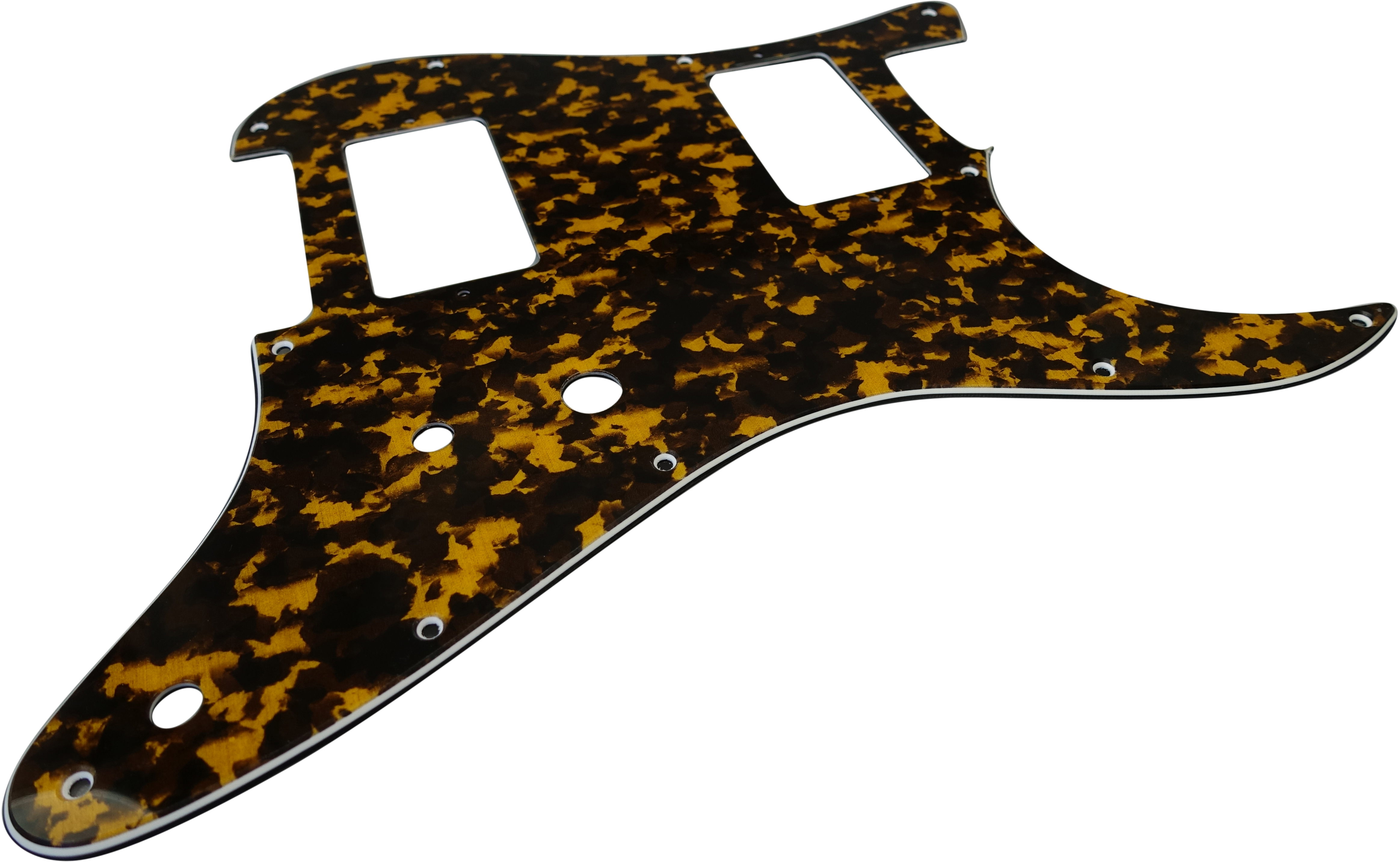 Toronzo Pickguard ST-HH-2PTS-3PLY-Tiger Yellow