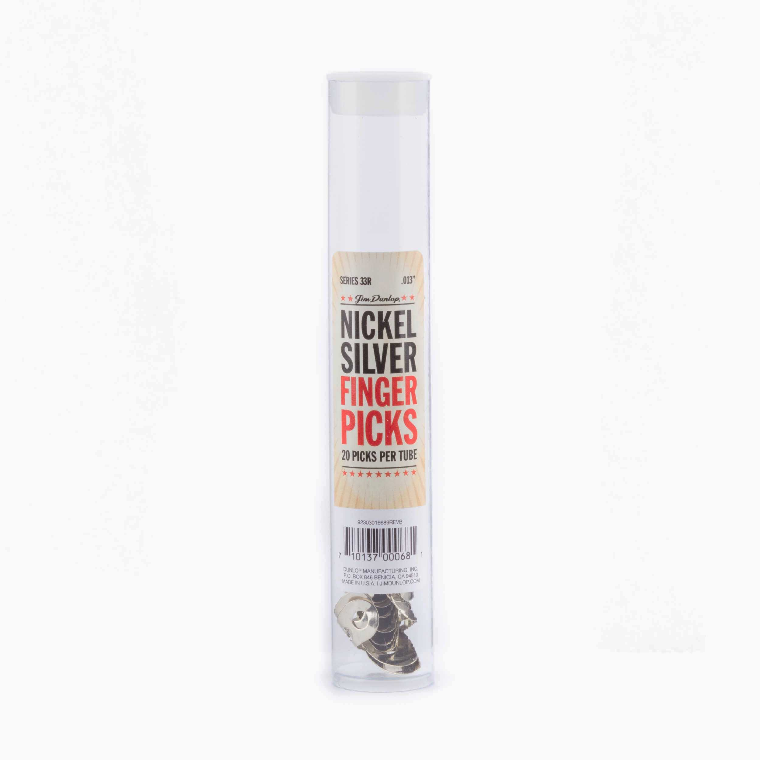 Silver 0,013 inch Fingerpick