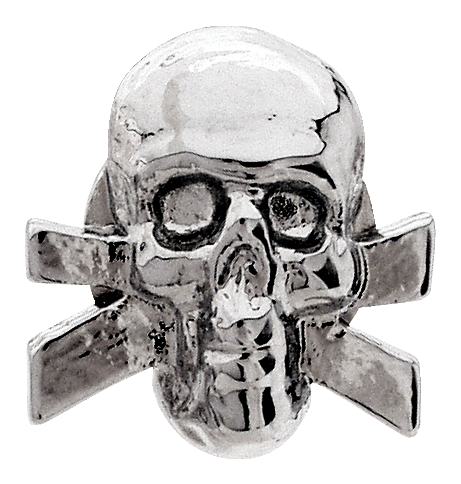 Grover Skull Button, chrome