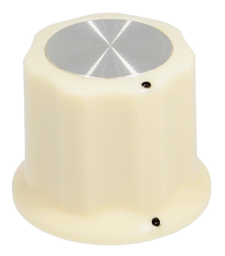 Synth knob Synthie-4 Cream