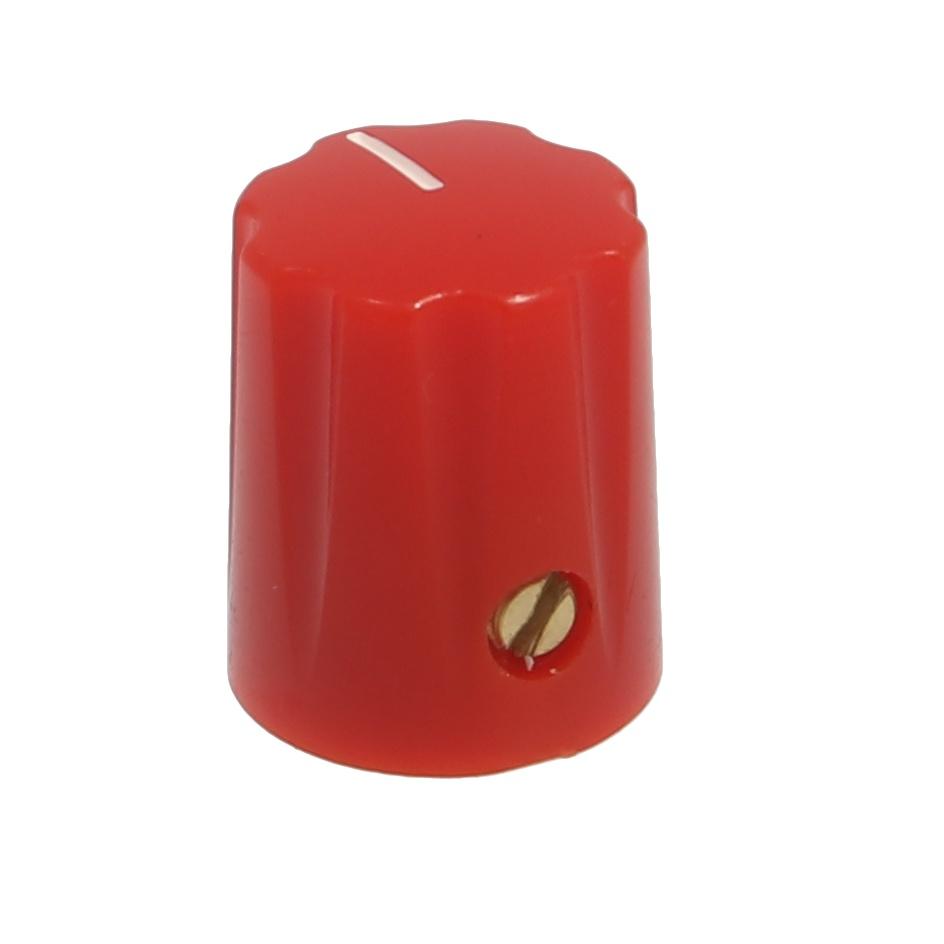 Mini-Fluted knob red