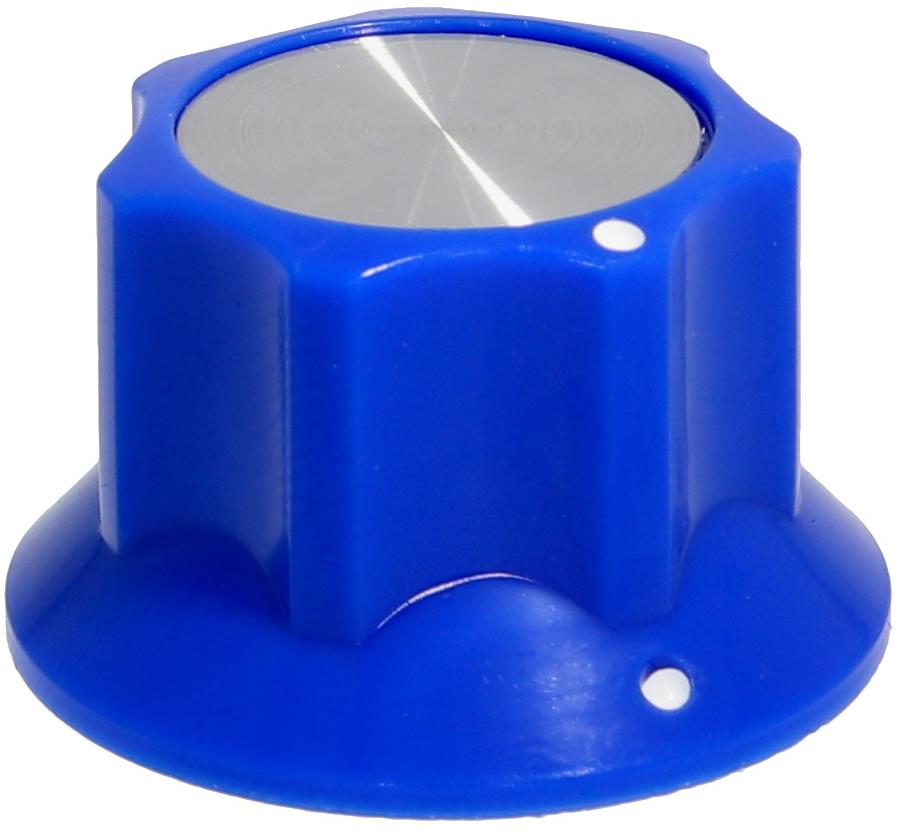 Fluted knob FLUTEY Blue
