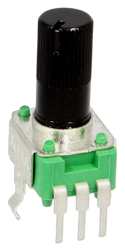 Alpha 9mm PCB mount potentiometer side view