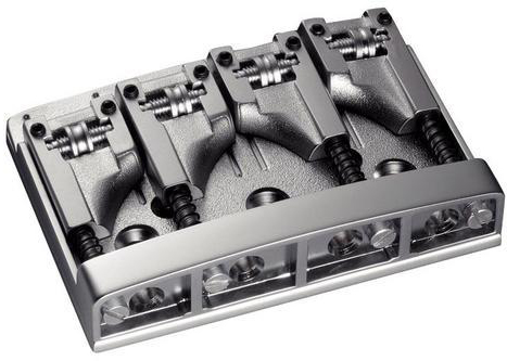 Schaller E-Bass-bridge 3D-4 4-string Satin Chrome