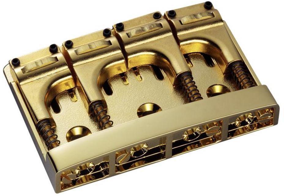 Schaller E-Bass-bridge 3D-4 Piezo 4-string Gold