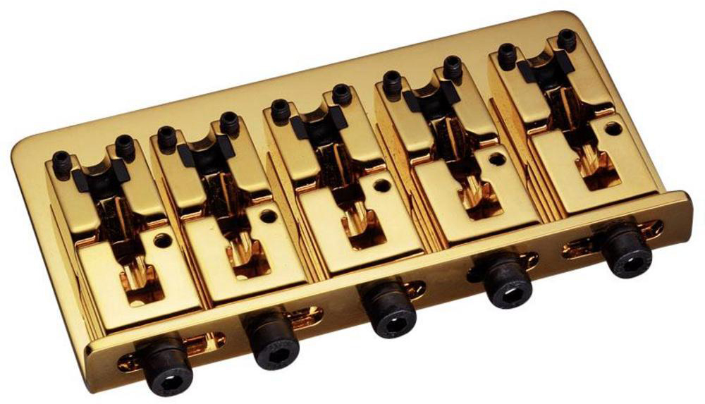 Schaller E-Bass-bridge 2000 5-string Gold
