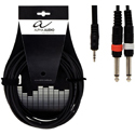 Alpha Audio Y cable 3,5 ST-2MO-1,5m