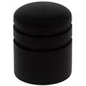 Wood knob Dome-2-Ebony