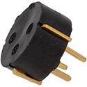 Transistor socket, gold plated