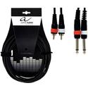 Alpha Audio Twin cable 2MO-2RCA-1,5m