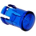 Fresnel lens 5mm flat blue