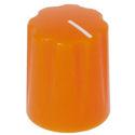 Mini-Fluted knob orange