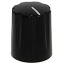 Mini-Fluted ABS knob black