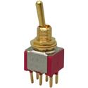 MEC M 80007/G gold Toggle On/On/On DPDT