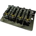 Schaller Bass bridge 2000 Piezo 4-string Ruthenium