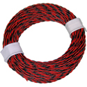 Twin Wire 0,14mm, rd/blk, 50m