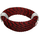 Twin Wire 0,04mm, rd/blk, 10m