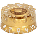 Speed knob Notched Gold