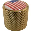 Dome Knob USA Gold