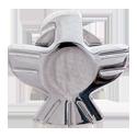 Grover Eagle Button, chrome