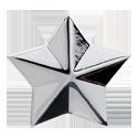Grover Star Button, chrome