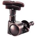 Schaller Machine Head M6 Vintage S 6 left. Vintage Copper
