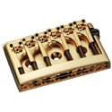 Schaller Guitar bridge 3D-6 Gold