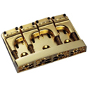 Schaller Bass bridge 3D-4 Piezo 4-string Gold
