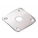 Schaller Jack plug plate. Brass Chrome